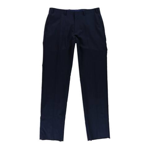 Tallia Mens Pinstriped Dress Pants Slacks, Blue, 36W x 29L - 36W x 29L