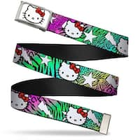 Hello Kitty Face Fcg White Chrome Frame Hello Kitty W Lightning & Web Belt