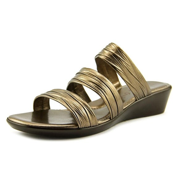 Italian Shoe Makers Scout Women Open Toe Synthetic Bronze Sandals