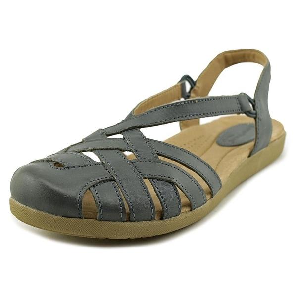 58ef2a3d285e Shop Earth Origins Nellie Women W Open Toe Leather Blue Sandals ...