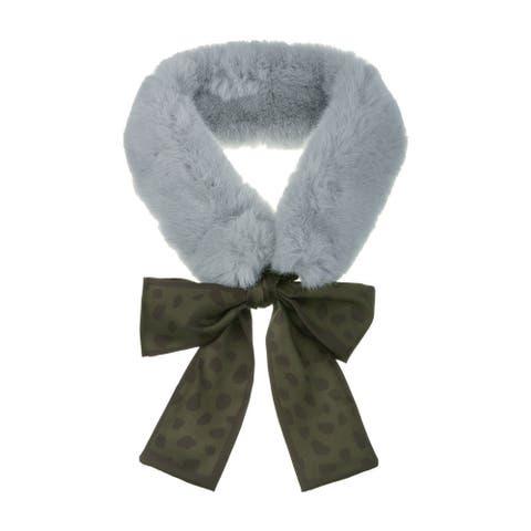 "Women's Cold Weather Leopard Ribbons Winter Warmer Scarf - 130x8cm/51.18x3.15""(L*W)"
