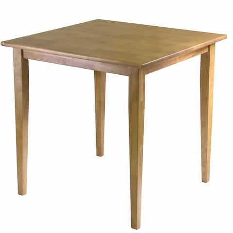 Solid Wood Shaker Style Square Dining Table in Light Oak Finish - Light Oak