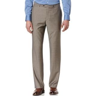Perry Ellis Portfolio Modern Fit Flat Front Dress Pants Desert Taupe 32 x 32