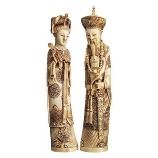 Design Toscano Emperor and Empress Oliphant Set