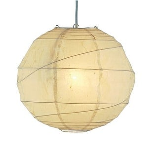 "Adesso 4162 Orb 24"" Wide 1 Light Pendant with Natural Rice Paper Shade"
