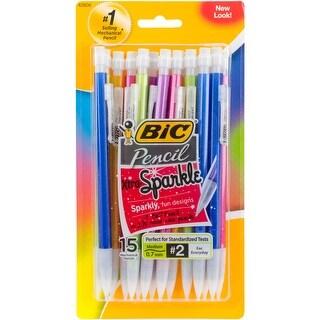 BIC Xtra Sparkle Mechanical Pencils 15/Pkg-Assorted Barrels - assorted barrels