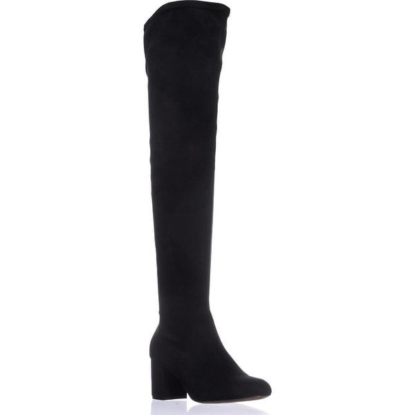I35 Rikkie Wide Calf Over-The-Knee Boots, Black