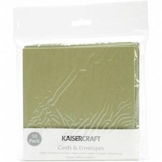 Square Cards & Envelopes 5.5 X5.5 10/Pkg-Olive