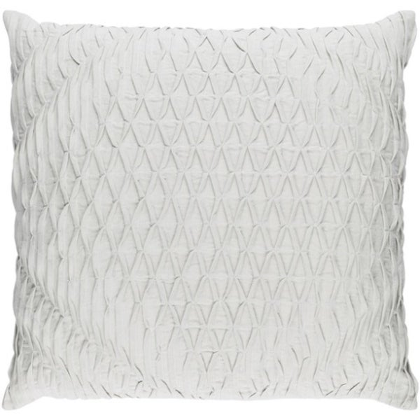 "20"" Cloud Gray Woven Pinched Diamond Decorative Square Throw Pillow"