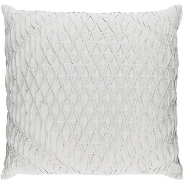 "22"" Cloud Gray Woven Pinched Diamond Decorative Square Throw Pillow"