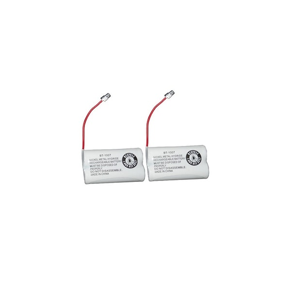 Replacement Battery For Uniden DECT1480-3 Cordless Phones - BT1007 (600mAh, 2.4V, Ni-MH) - 2 Pack