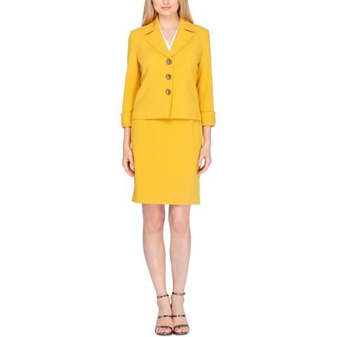 Tahari ASL Womens Skirt Suit Notched Lapel Business