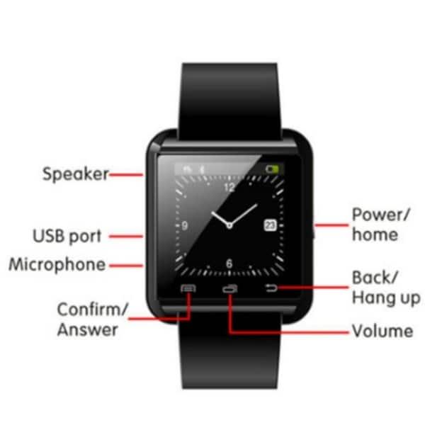Shop U8 Bluetooth Smart Wrist Watch Phone Mate For all phone