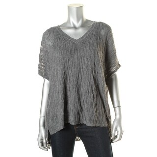 Pure DKNY Womens Pullover Top Wool Blend Oversized - L