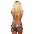 Women's Green Camo Authentic True Timber Bikini Hot shorts BOTTOM ONLY Beach Swimwear - Thumbnail 2