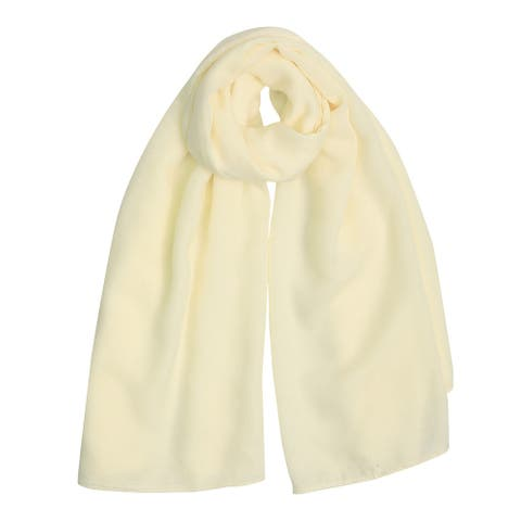 "Long Warm Shawl Large Soft Solid Color Scarf for Women Men Beige-1 - Beige - 75""x 55"""