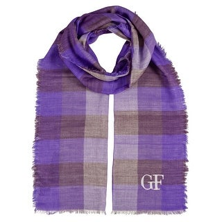 Gianfranco Ferre D89C3308/3 Lavender Checkered Scarf