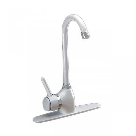 Kitchen Faucet Gooseneck White Classic Single Hole 1 Handle Renovator's Supply