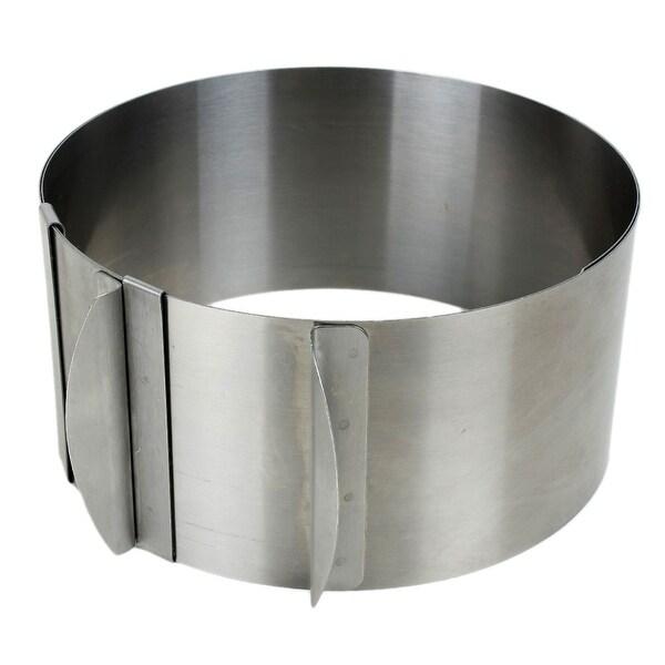 Unique Bargains Home Kitchen Adjustable Metal Round Mousse Cake Dessert Baking Ring Mold
