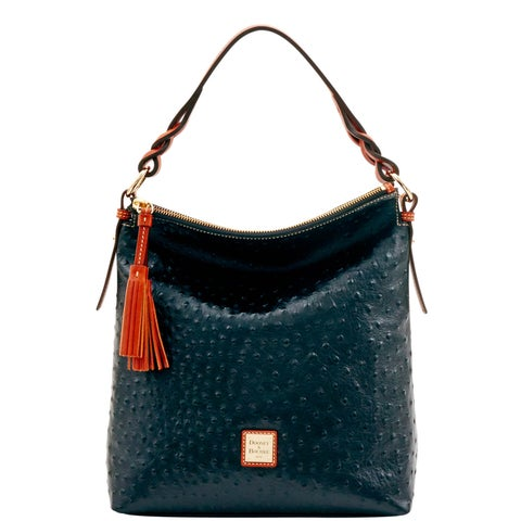 Dooney & Bourke Ostrich Embossed Leather Small Sloan Bag (Introduced by Dooney & Bourke at $288 in Jul 2016)