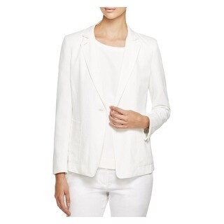 Pure DKNY Womens Petites One-Button Blazer Notch Lapel Lone Sleeves