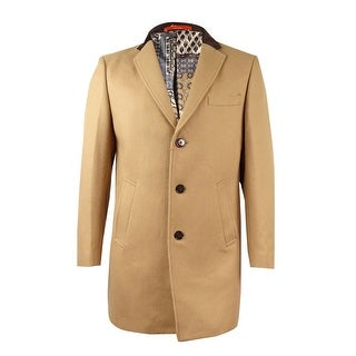 Tallia Men's Camel Overcoat (M, Tan) - Tan - M