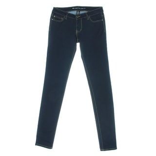 Celebrity Pink Womens Juniors Low-Rise Indigo Wash Skinny Jeans - 1