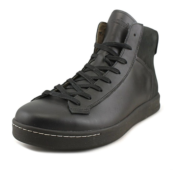 Ohw? Hawkins Men Leather Black Fashion Sneakers