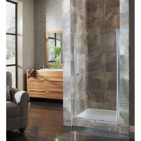 """Foremost CVSW2772-CL Cove 72"""" High x 26-1/2"""" Wide Hinged Frameless Shower Door with 1/4"""" Clear Glass"""