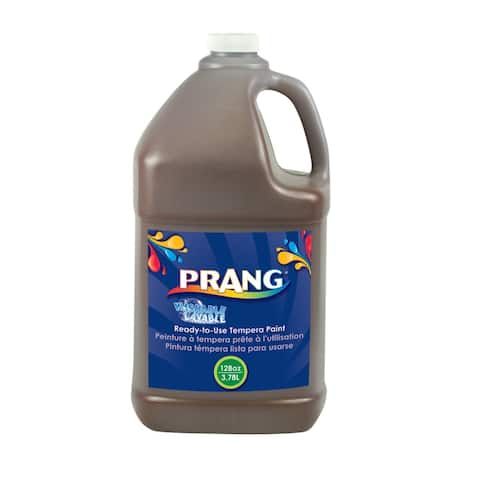 Prang Ready-to-Use Washable Tempera Paint, Gallon, Brown
