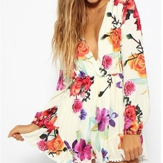 Womens Sexy Loose Jumpsuit Casual Print Long Sleeve Rompers Womens Jumpsuit Spring Shorts Elegant Macacao Feminino