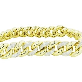 Diamond Bracelet Miami Link Cuban Link 1.25ctw 9mm Wide 8 Inch Long (i2/3, i/j)