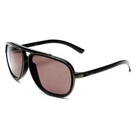 John Galliano Women's Large Frame Pilot Style Sunglasses Grey/Black - Small