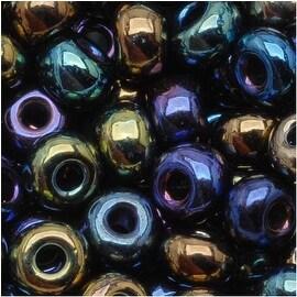 Czech Seed Beads 6/0 Metallic Iris Blue Purple Bronze (1 Oz)