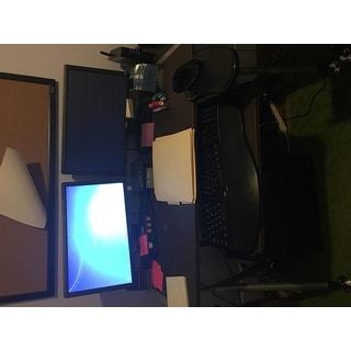 Elburn Dark Brown L-Shaped Modern Computer Desk