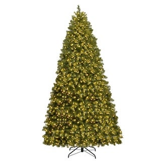 Gymax Pre-Lit 8' Artificial PVC Christmas Tree Hinged 880 LED Lights