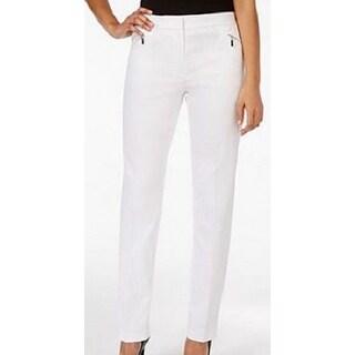 Tahari by ASL NEW White Women's Size 18W Plus Slim Leg Dress Pants