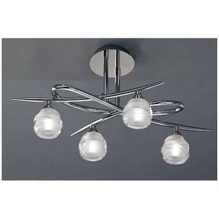 Mantra Lighting 1803 Loop 4 Light Semi-Flush Ceiling Fixture