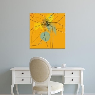 Easy Art Prints Jan Weiss's 'Orange Lite 2' Premium Canvas Art