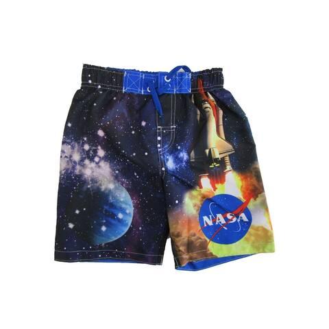 Nasa Little Boys Multicolor Nasa Swim Shorts