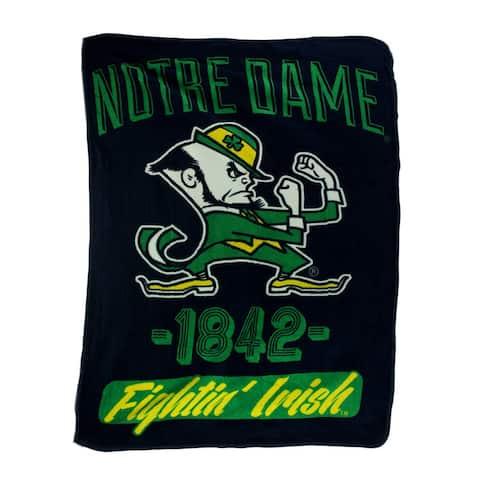 Retro Notre Dame Plush Micro Raschel Throw Blanket - 0.25 X 60 X 46 inches