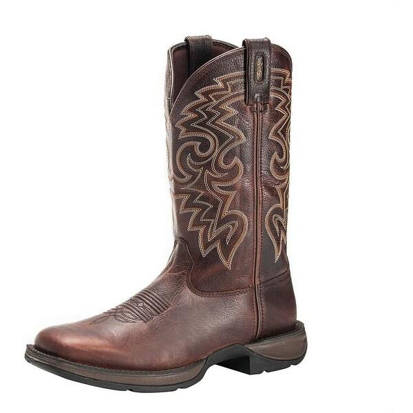 "Durango Western Boots Mens 12"" Rebel Pull Square Toe Chocolate"