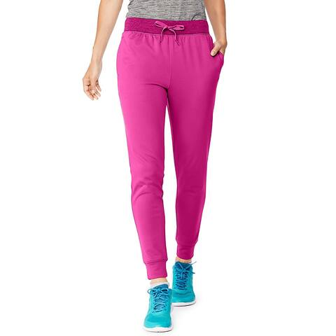 Hanes Sport Women's Performance Fleece Jogger Pants with Pockets - Color - Fresh Berry/Fresh Berry Heather - Size - L