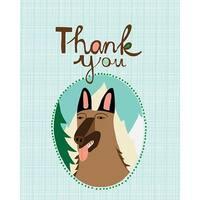 German Shepherd Thank You Cards