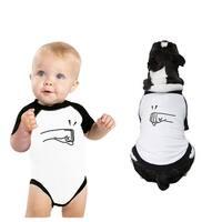 Fists Pound Pet Baby Matching Graphic Shirts Black Sleeve Raglan