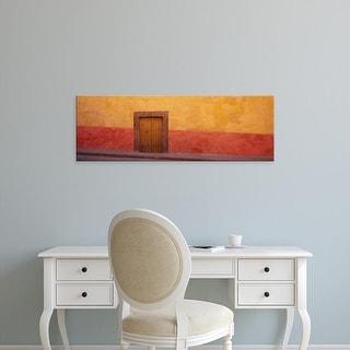 Easy Art Prints Panoramic Images's 'Mexico,Guanajuato,San Miguel de Allende, door in a wall' Premium Canvas Art