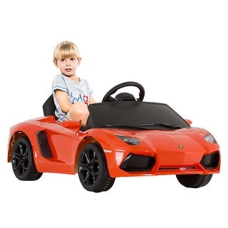 Costway Lamborghini Aventador LP700-4 Licensed 6V Kids Ride On Car RC Remote Control