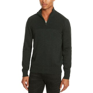 Kenneth Cole Reaction Mens Sweater 1/4 Zip Long Sleeves