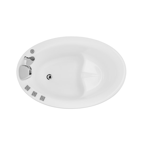 """Japanese Style 59"""" X 31"""" Acrylic Flatbottom Deep Soaking Freestanding Air Bath Bathtub With 48 Air Jets - Tub Filler. Opens flyout."""
