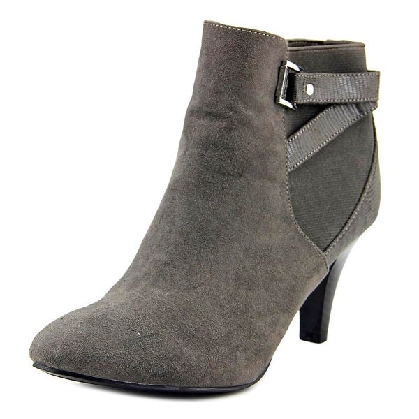 Karen Scott Majar Women Round Toe Canvas Gray Ankle Boot